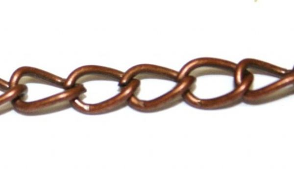 Copper finished curb chain 4mm x 6mm cc502